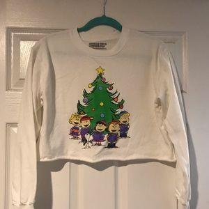 Peanuts crop sweater